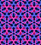 Tuile arabe de bleu de rose de mosaica photos stock