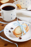 Tuile cookies. With a cup of coffee Royalty Free Stock Image