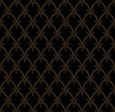 Tuile décorative abstraite Modèle sans couture de Ginkgo géométrique Fond floral Image libre de droits