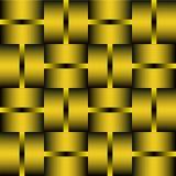 Tuile décorative avec les éléments d'or ou en laiton Fond dans la conception en métal illusion optique de l'art 3d Photo stock