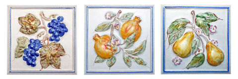 Tuile de fruits Photo stock