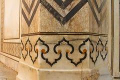 Tuile de marbre, Taj Mahal Images libres de droits