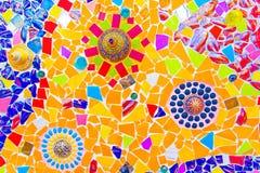 Tuile de mosaïque en céramique colorée Image stock