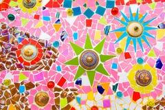 Tuile de mosaïque en céramique colorée Photographie stock