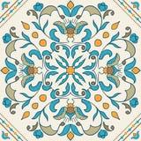 Tuile de Portugais de vecteur Beau modèle coloré pour la conception illustration libre de droits