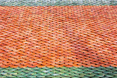 Tuile de toit de fond thaïlandais de texture de modèle de temple Images libres de droits