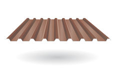 Tuile de toit ridée photographie stock libre de droits