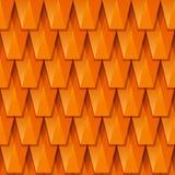 Tuile de toit rouge de vecteur, texture Fond 3D géométrique abstrait illustration libre de droits