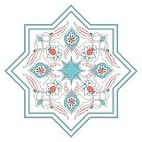 Tuile florale Art Pattern Vector de turquoise illustration stock