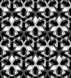 Tuile noire blanche de mosaica arabe photos stock