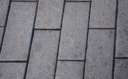 Tuile rectangulaire de trottoir Tuile grise de fond photo libre de droits