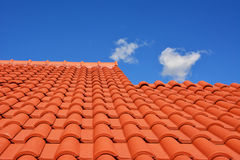 Tuile rouge de texture de toit Images libres de droits