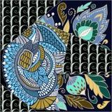 Tuile sans couture abstraite de patchwork avec l'ornement floral l'arabe ou Photos libres de droits