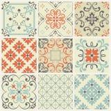 Tuile sans couture avec le patchwork coloré Modèle multicolore de vintage Le modèle sans fin peut être employé pour le carreau de illustration stock