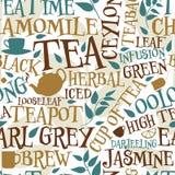 Tuile sans couture de thé illustration libre de droits