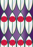 Tuile sans joint de roses en verre souillé Image stock