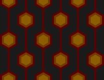 Tuile sans joint rouge de rétro hexagones Photos libres de droits