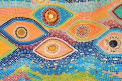 Tuile vitrée colorée Images stock