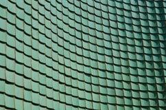 Tuile vitrée par vert de chinois traditionnel Photo stock