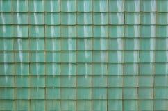 Tuile vitrée par vert de chinois traditionnel Photos libres de droits