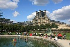 Tuilerie en het Louvre in Parijs Royalty-vrije Stock Fotografie