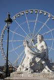 Tuileries Garden and Ferris in Paris Royalty Free Stock Photos