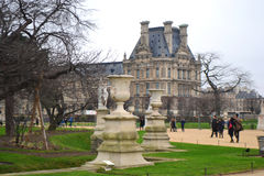 Tuileries Garden and the Louvre Stock Image