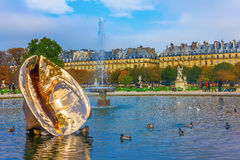 The Tuileries Garden of the Louvre Museum Stock Image