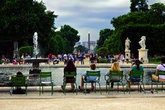 Tuileries garden in Paris Stock Photography