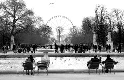 Tuileries garden - Paris Royalty Free Stock Images