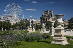 Tuileries Garden, Paris, France. One of the biggest and most beautiful gardens in Paris Royalty Free Stock Photos