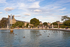 Tuileries Garden in Paris Stock Photography