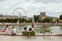 Tuileries garden Stock Photo