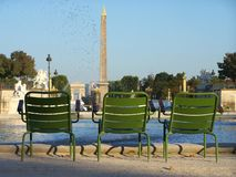 The Tuileries Garden early in the morning in Paris. The Tuileries Garden in Paris . This picture was taken in the summer time very early in the morning Royalty Free Stock Photos