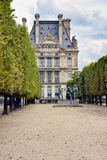 Tuileries Garden in Paris. Statue in the Tuileries Garden in Paris, France called Les Fils de Cain royalty free stock photos
