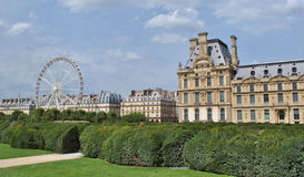 Tuileries Garden, Paris. Tourist visit in Tuileries Garden on August 5, 2013 in Paris, France Stock Photo
