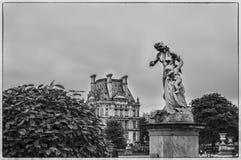 Tuileries Garden. The sculpture near Louvre in Tuileries Garden Royalty Free Stock Photos