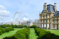 Tuileries garden side, Paris. France Royalty Free Stock Photography