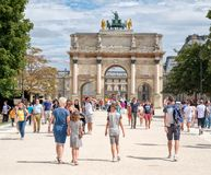 The Tuileries Garden on a summer day in Paris Stock Photo