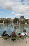 Tuileries garden Royalty Free Stock Image