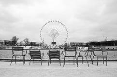 Tuileries garden. Wheel bigwheel paris parisian Stock Photos