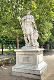 In the Tuileries Gardens. Ancient sculpture Hannibal Royalty Free Stock Photo