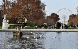 The Tuileries Gardens in Paris Royalty Free Stock Photography