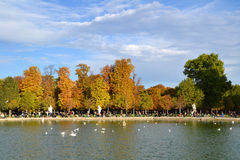Tuileries Gardens in Paris Royalty Free Stock Photography