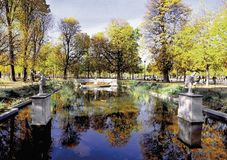 Tuileries Paris france do DES de Jardin Foto de Stock