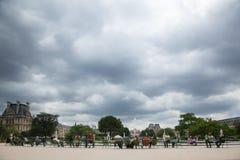 Tuileries Paris Frankrike Royaltyfri Fotografi