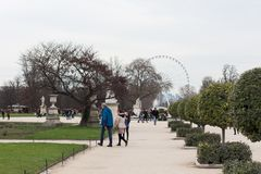 Tuileries parkerar Royaltyfria Foton