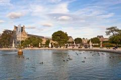 Tuileries trädgård i Paris Arkivbild