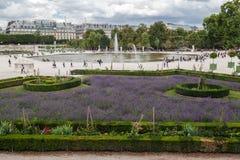 Tuileries trädgård Paris Frankrike arkivfoton