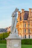 Tuileriestuin bij de Lente, Parijs, Frankrijk Royalty-vrije Stock Foto's